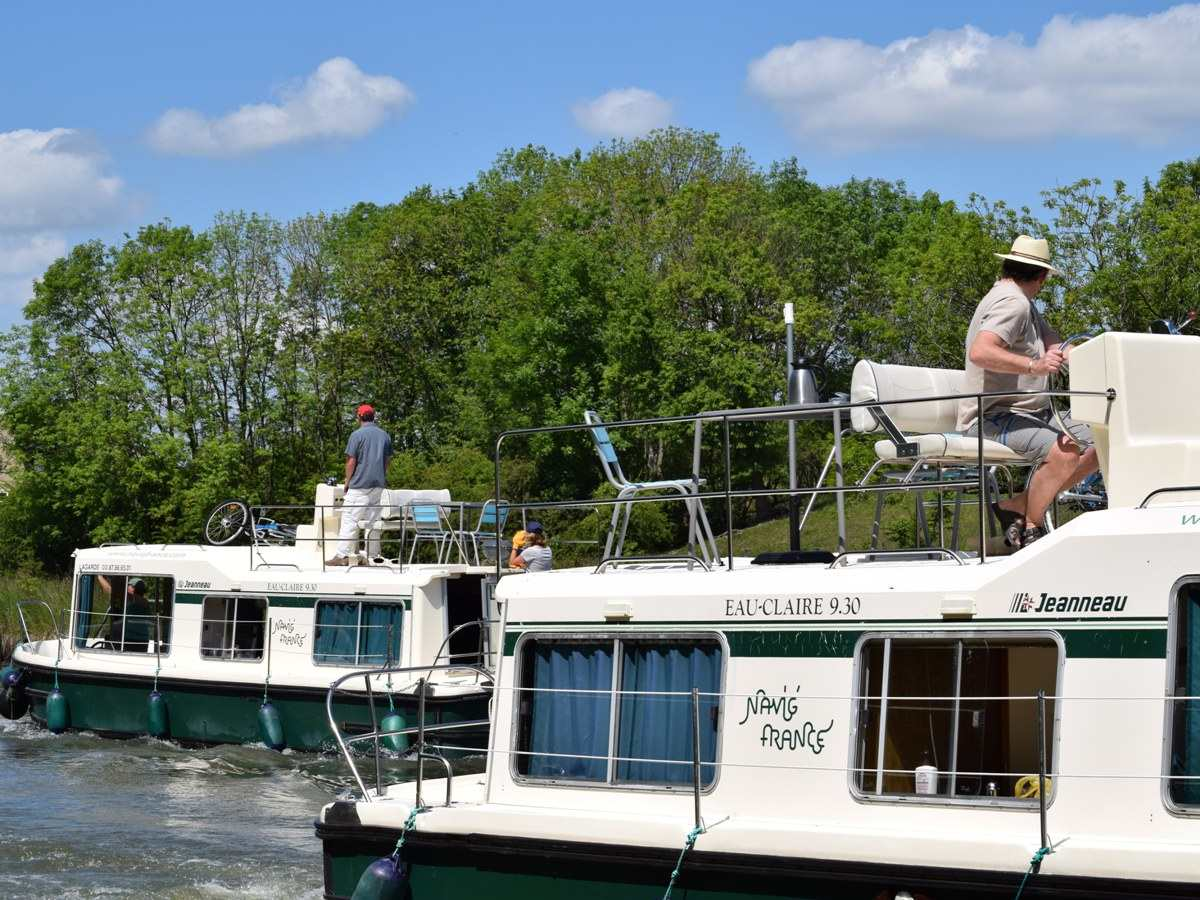 Unsere Kanal-Boote EAUCLAIRE 930 FLY   Navig\'France